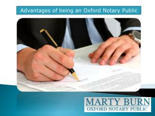 Advantages of being an Oxford Notary Public