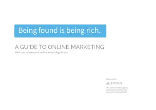 A Guide To Online Marketing by 411 Locals
