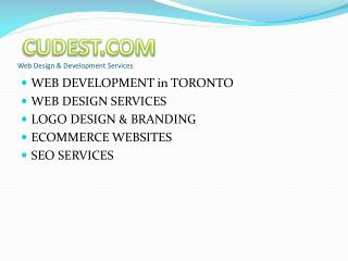 Web Design and Development Services in Toronto