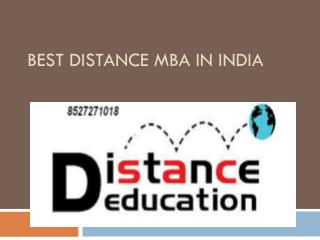 Best Distance MBA in India @8527271018