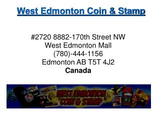 Sports Card Art - West Edmonton Coin and Stamp