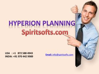 Hyperion Planning Online Training in Hyderabad India USA UK Australia Canada