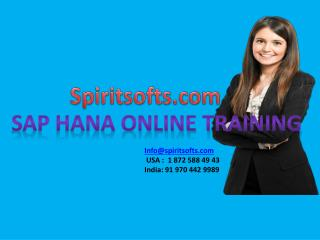 SAP HANA Online training in Hyderabad India USA UK Canada Australia