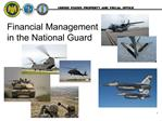 Financial Management in the National Guard