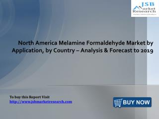 North America Melamine Formaldehyde Market by Application: JSBMarketResearch