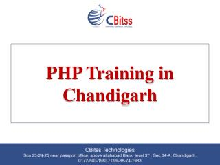 php training in chandigrah
