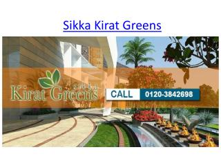 Get Awesome Flats Sikka Kirat Greens In Noida Extension