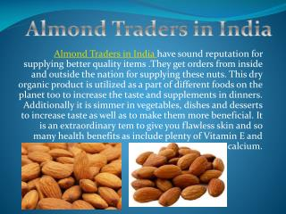 Almond traders in India