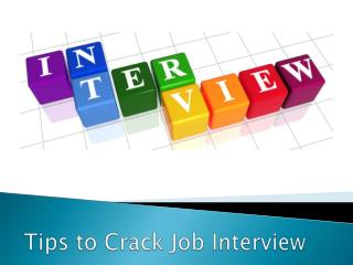 Tips to Crack Job Interview