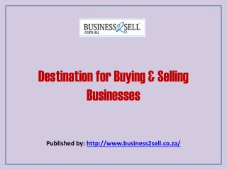 Destination For Buying & Selling Businesses