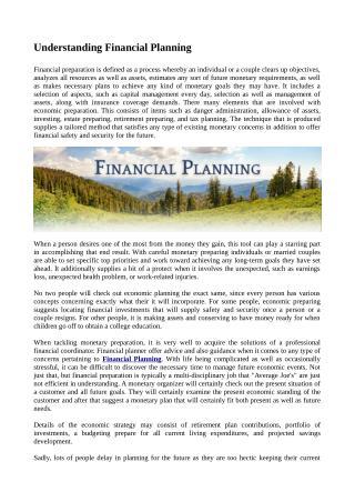 Understanding Financial Planning