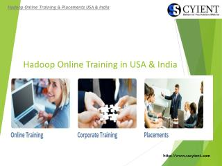 SSCyient - SAP Hadoop Online Training in USA & India