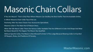 Masonic Chain Collars | Master Masonic