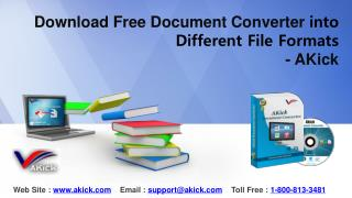 Download Free Document Converter into Different File Formats - AKick