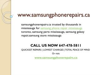 Samsung Phone Repairs Mississauga| Samsung Repair Mississauga