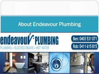 About Endeavour Plumbing