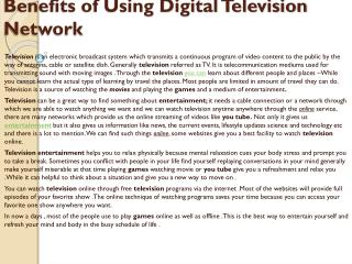 Megavue Multi-Platform Television Network