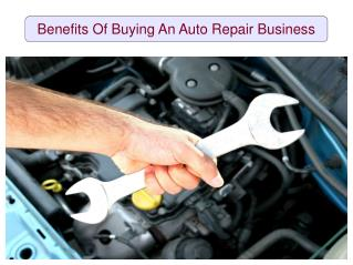 Benefits Of Buying An Auto Repair Business
