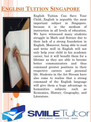 English Tuition Singapore