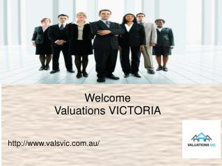 Valuation VIC for accurate property valuation