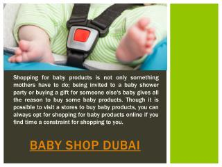 Baby Shops in Dubai