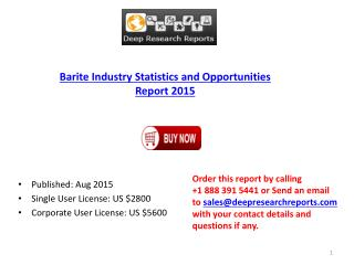 Global Barite Industry 2015 Research Report