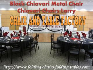 Black Chiavari Metal Chair - Free Cushion - Chiavari Chairs Larry
