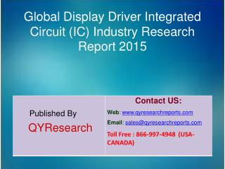 Global Display Driver Integrated Circuit (IC) Industry  Analysis, Research, Share, Trends and Growth