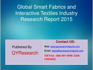 Global Smart Fabrics and Interactive Textiles Industry 2015 Market Size, Trends, Analysis, Development, Shares, Forecast