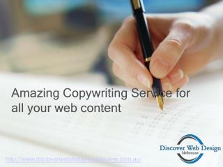 Amazing Copywriting Services Melbourne