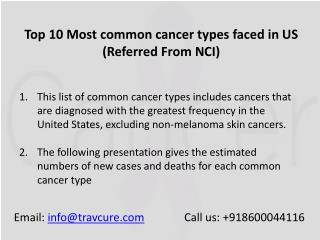 10 Most Common Cancer in the world