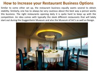 How to Increase your Restaurant Business Options