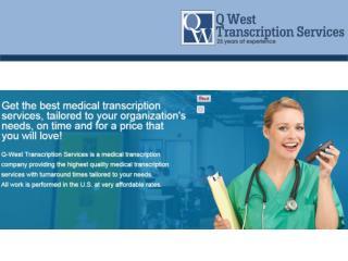 Medical Transcription Services- Radiology | Q West