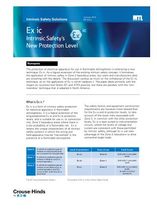 Ex ic - Intrinsic Safety New Protection Level