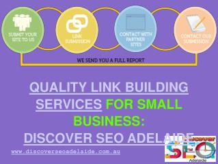Get Quality Link Building Services For Small Business | Discover SEO Adelaide