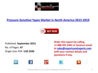 North American Pressure – Sensitive Tapes Market Research Report 2015 – 2019