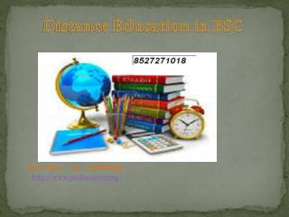 Distance education in bsc @8527271018