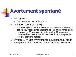 Avortement spontan