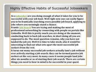 Successful Jobseekers