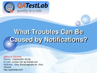 What Troubles Can Be Caused by Notifications?