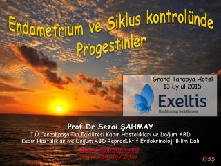Endometrium ve Siklus kontrolünde Progestinler