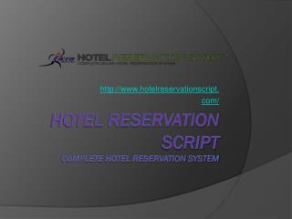 PHP CMS based Hotel Reservation Script by Eicra Soft