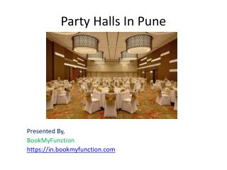 Party halls in Pune