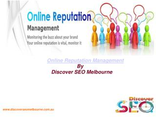 Online Reputation Management Melbourne