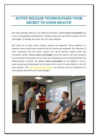 ACTIVE RELEASE TECHNOLOGIES-YOUR GOOD HEALTH
