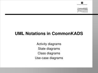 UML Notations in CommonKADS
