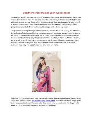 Designer sarees making your event special