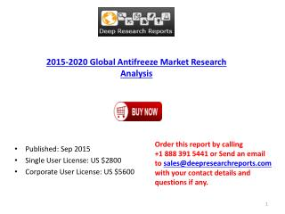 Global Antifreeze Market Research Report 2015