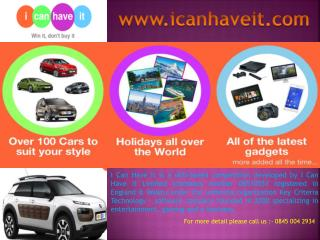 Icanhaveit.com offers you an easy chance to win a car competition