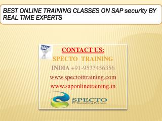 Beat live training classes on sap security by real time experts